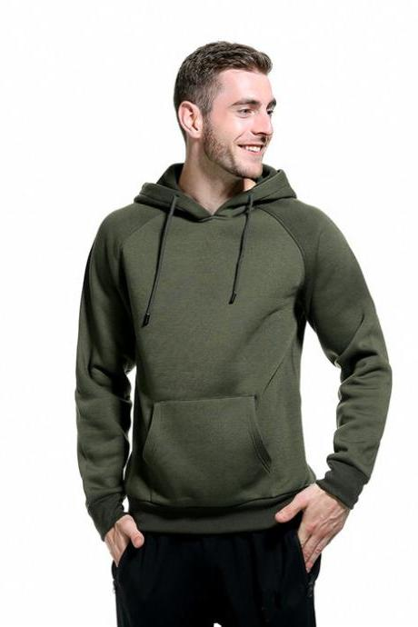 Men Hoodies Winter Warm Long Sleeve Streetwear Hip Hop Casual Hooded Sweatshirts