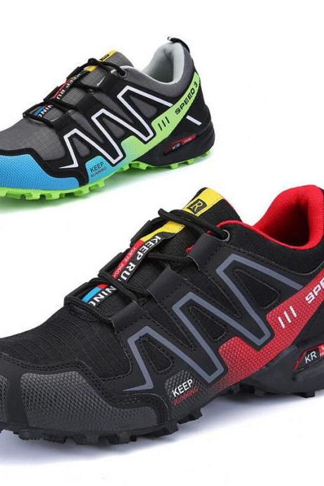 Fashion Men Hiking Shoes Breathable Running Sports Sneakers Athletic Big Size