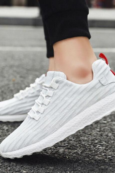 Mens Fashion Casual Sneakers Breathable Mesh Walking Slip-On Running Shoes Gym