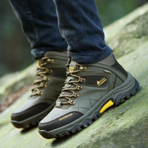Men's Hiking Shoes Outdoor Climbing Boots High Top Waterproof Warm Winter Walk